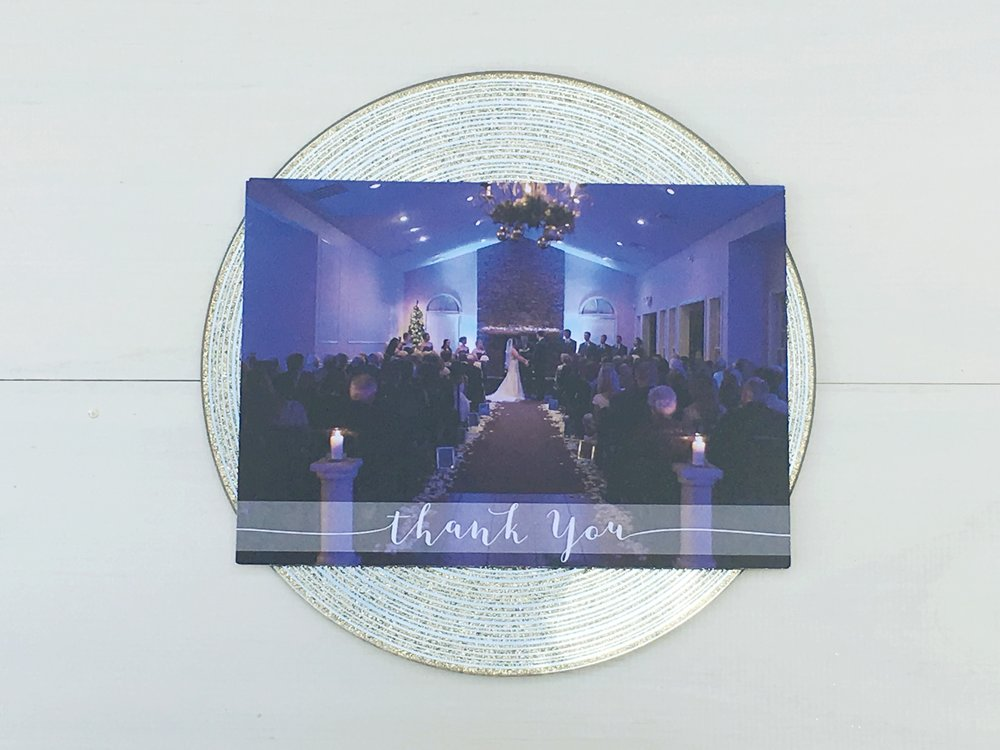 Central PA, York PA, JesSmith Designs, custom, wedding, invitations, bridal, announcements, save the date, baby, hanover, calligraphy, baltimore, wedding invitations, lancaster, gettysburg wedding thank you card.jpg