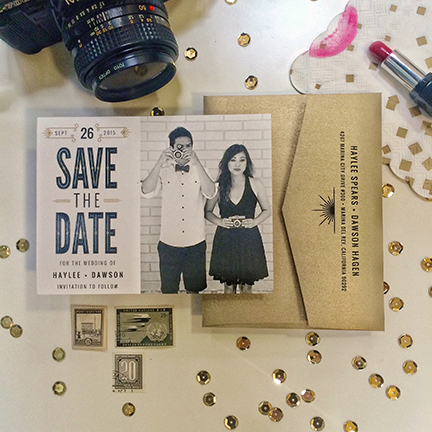 Central PA, York PA, JesSmith Designs, custom, wedding, invitations, bridal, announcements, save the date, baby, hanover, calligraphy, baltimore, wedding invitations, lancaster, gettysburg-e black gold picture save the date.JPG