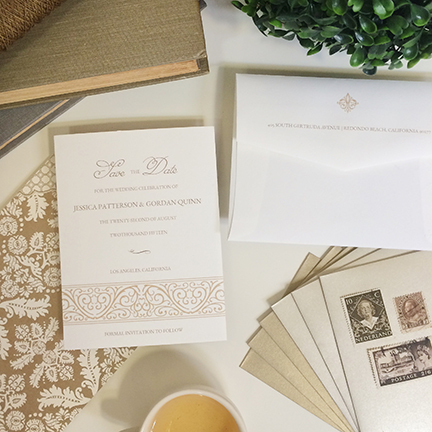 Central PA, York PA, JesSmith Designs, custom, wedding, invitations, bridal, announcements, save the date, baby, hanover, calligraphy, baltimore, wedding invitations, lancaster, gettysburg-e elegant frame save the date.JPG