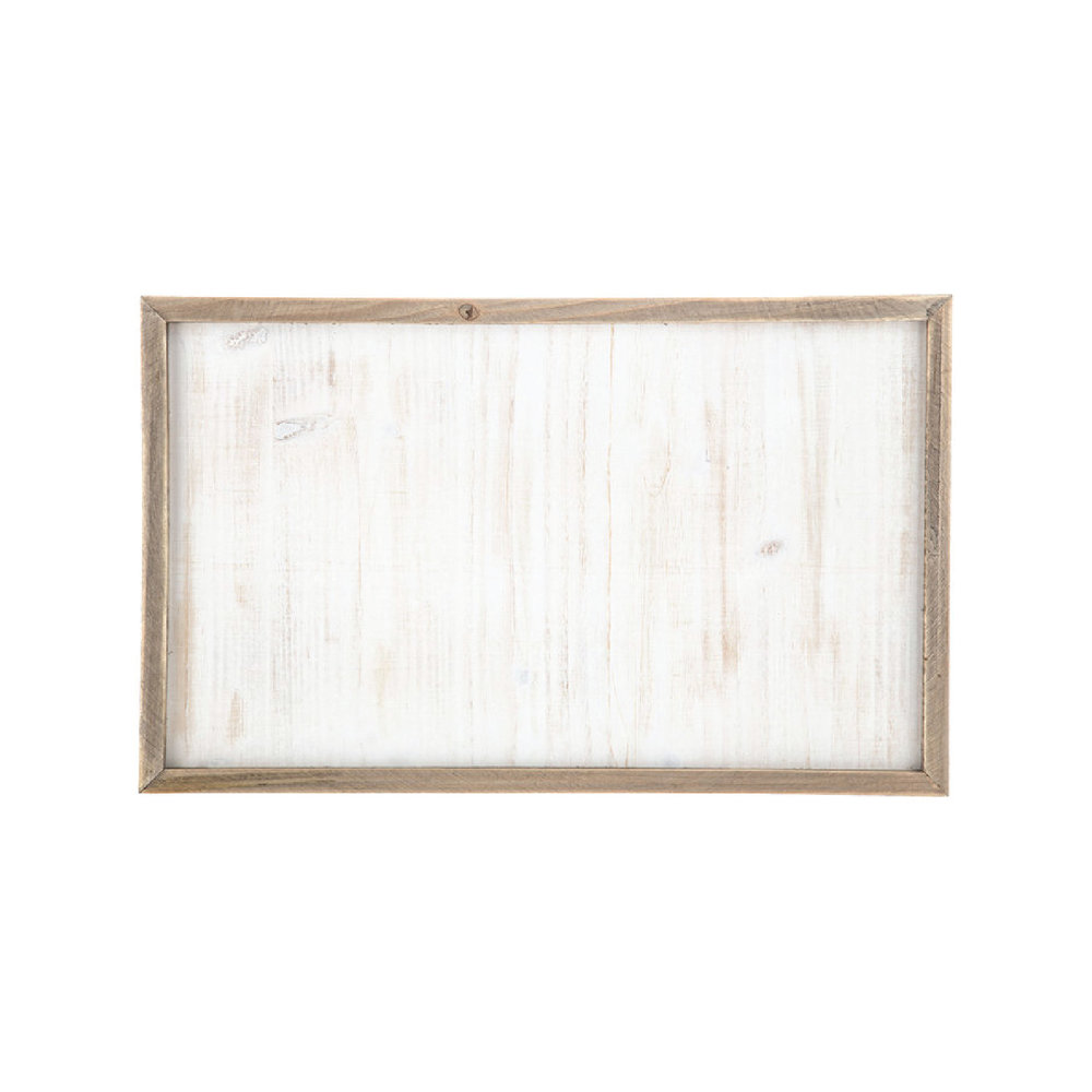 White Washed Framed Wood Panel