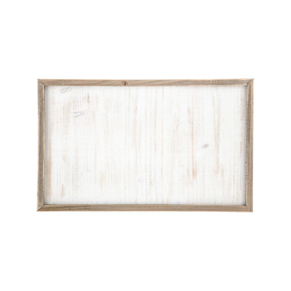 White Washed Framed Wood Panel