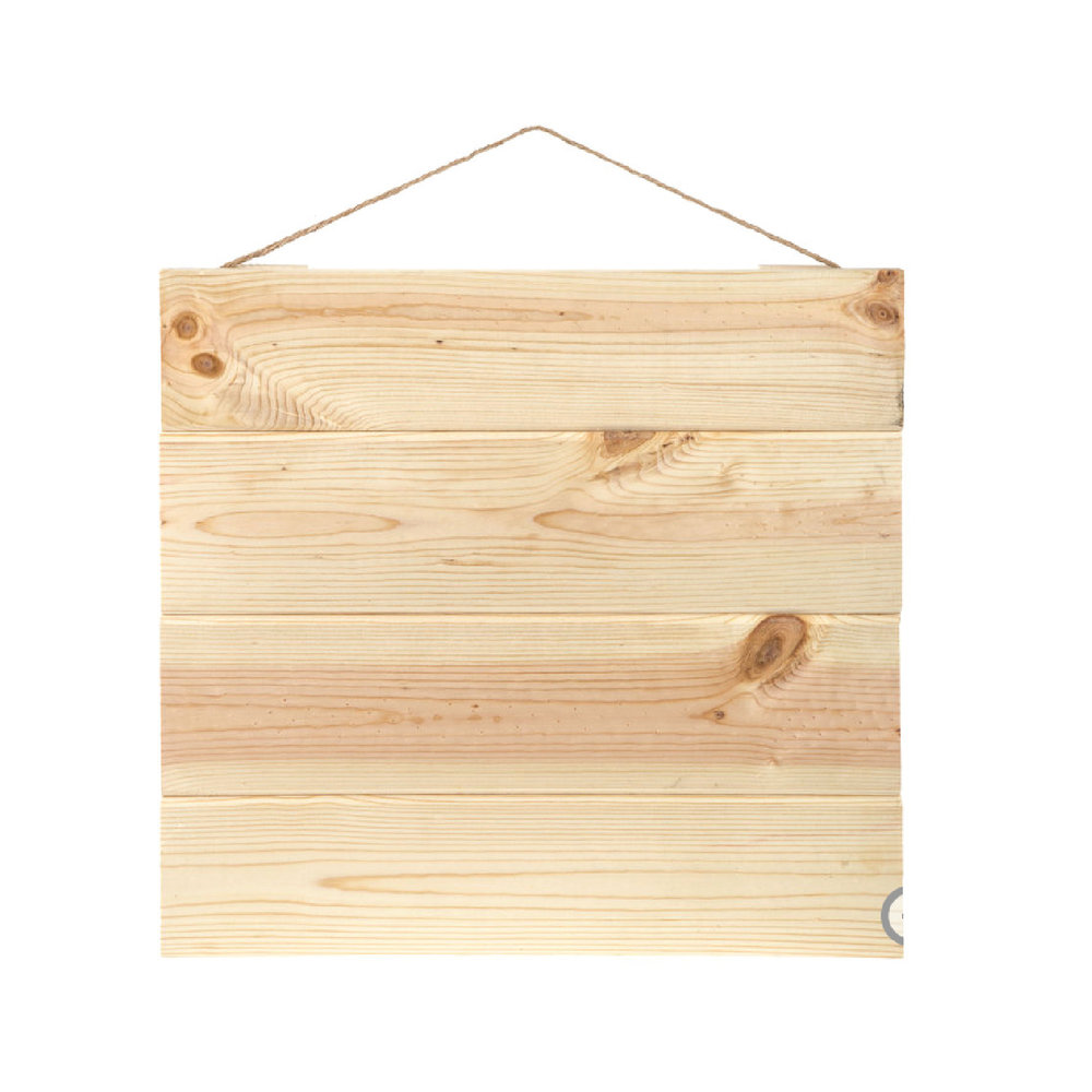 Square Pallet Natural Wood Panels