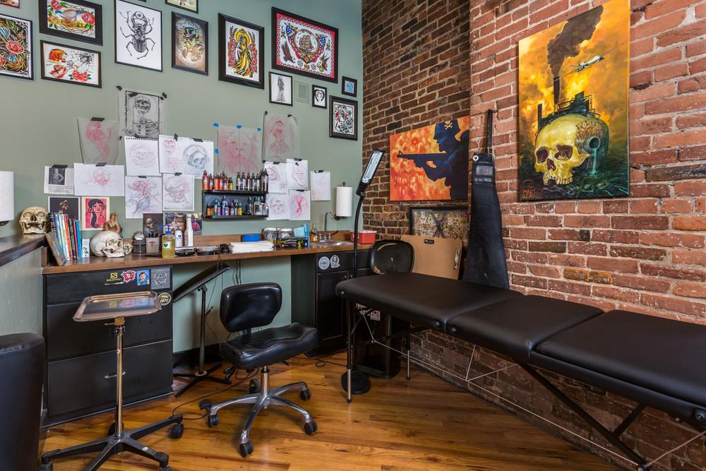 safe house tattoo studio. Black Bedroom Furniture Sets. Home Design Ideas