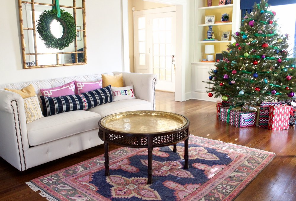 A Colorful Connecticut Christmas Living Room Tour Kate Smith Impressive Living Room Shows Property