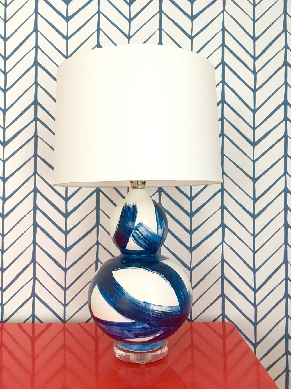 I'm so in love with this lamp! Having soft light in a baby's room is key for all of the late night feedings and changes. Why settle for something boring bedside when you can have something that is gorgeous and functional?!