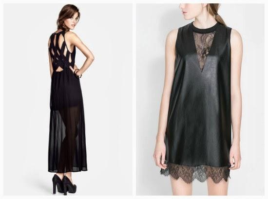 Maxiklänning från H M med underbar rygg och galet snygg läder och spets  klänning från Zara. d44e242031141