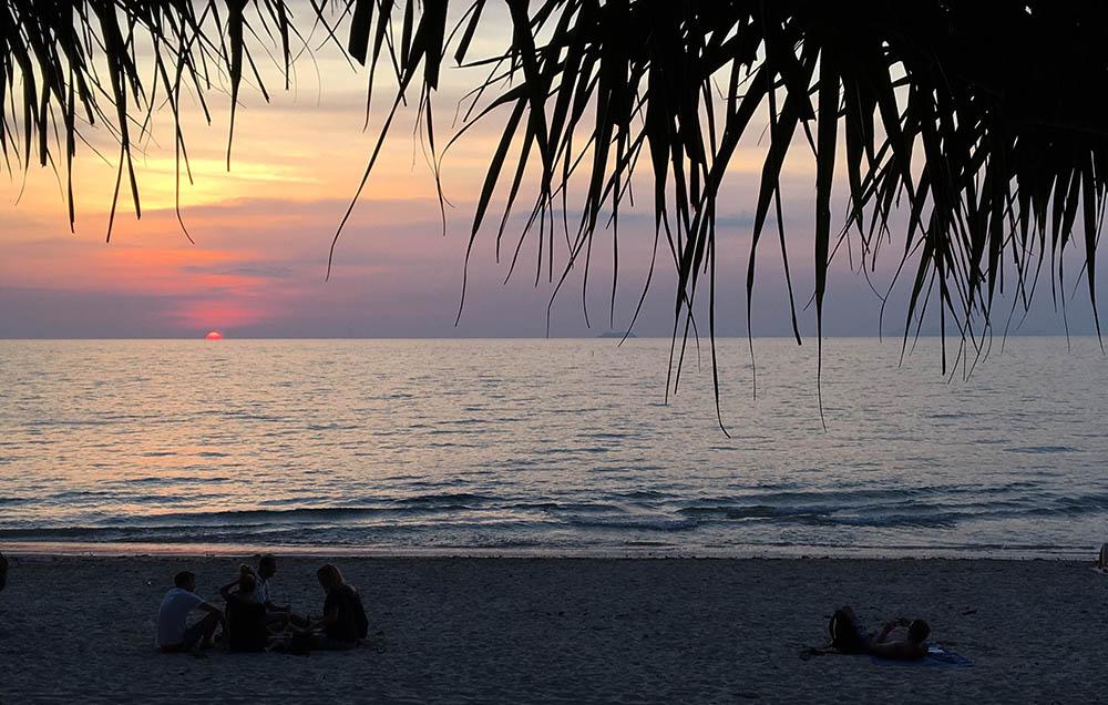 Solnedgång på Long Beach, Koh Lanta