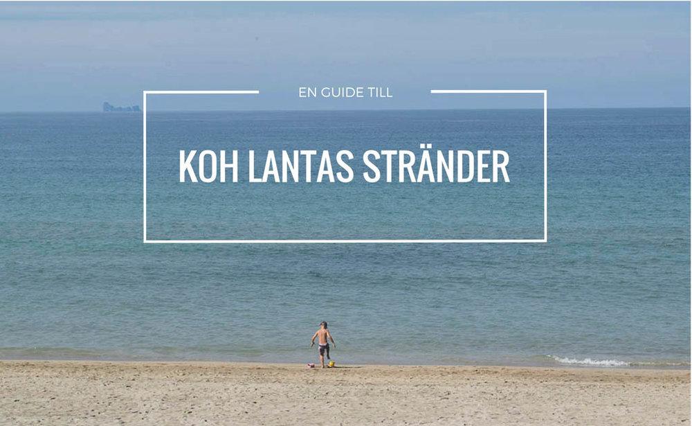 Här är Koh Lantas bästa stränder