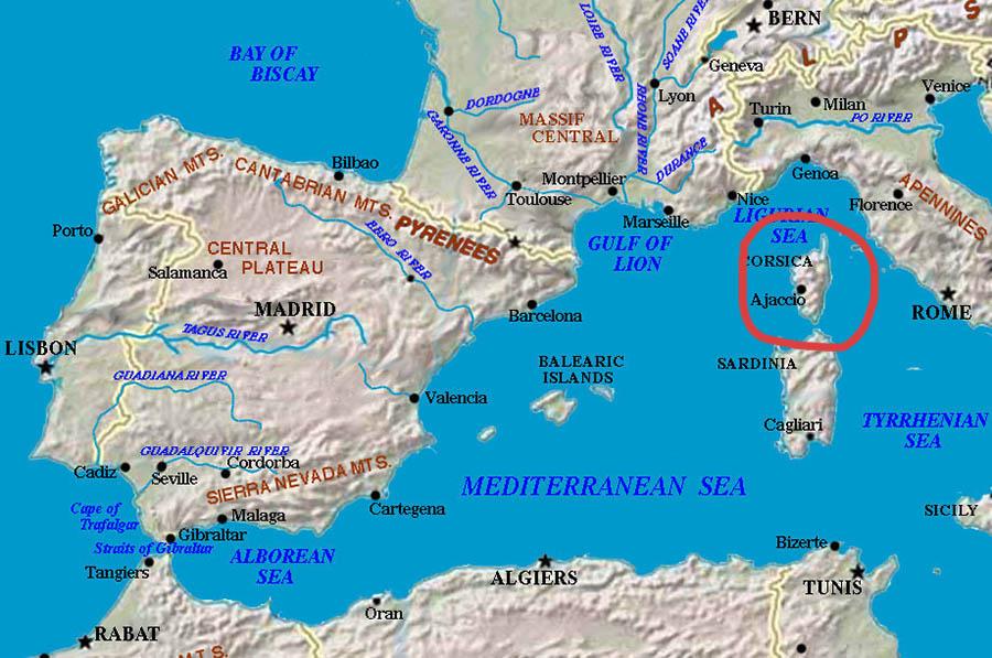 Karta Afrikas Ostkust.Min Guide Till Korsika Vart Nar Och Hur Come Fly With Me