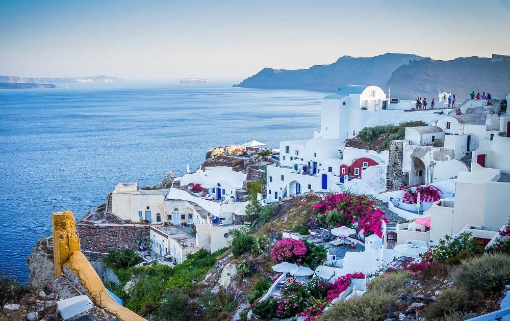 Santorini, Grekland. Hett 2018.