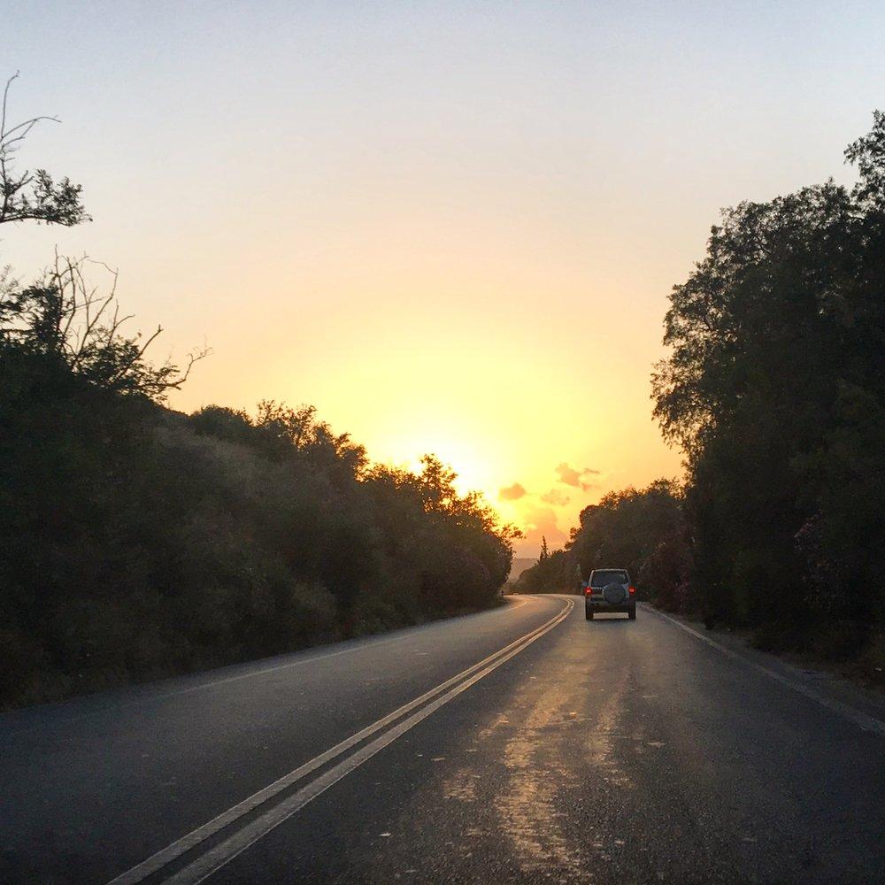 Det är fina vägar på Kreta