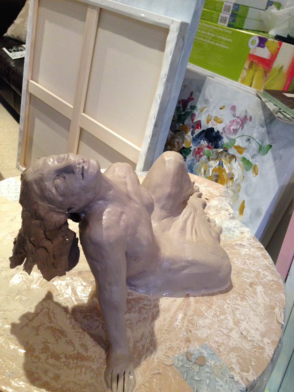 Clay Sculpture by Rebecca Montemurro.