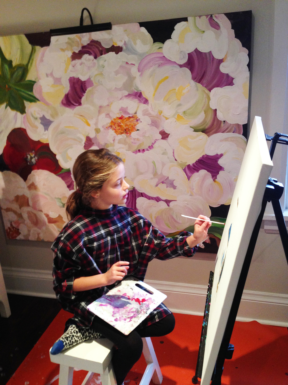 Mini artist at work!