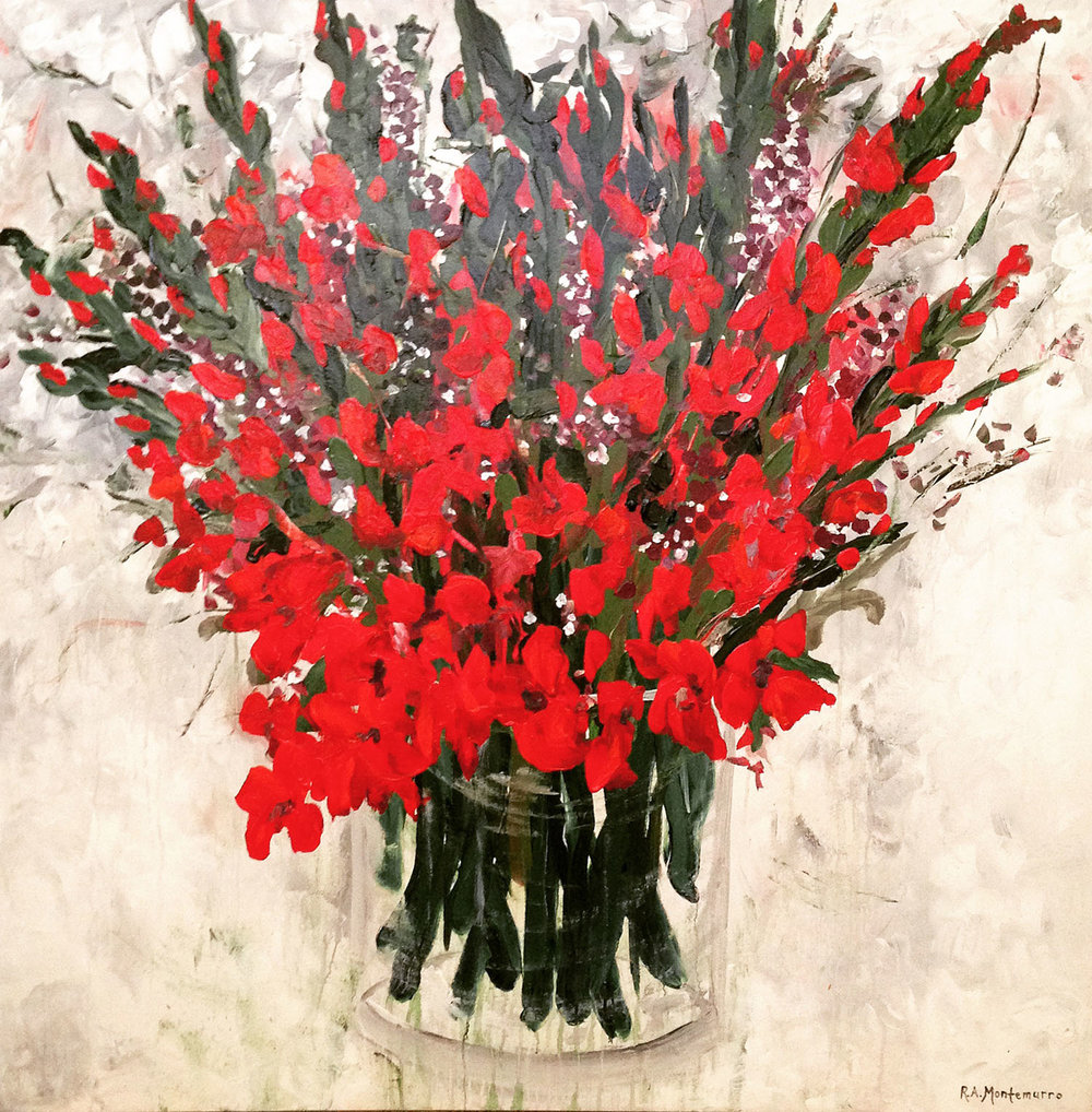 Gladiolas On Parade (48 x 48)