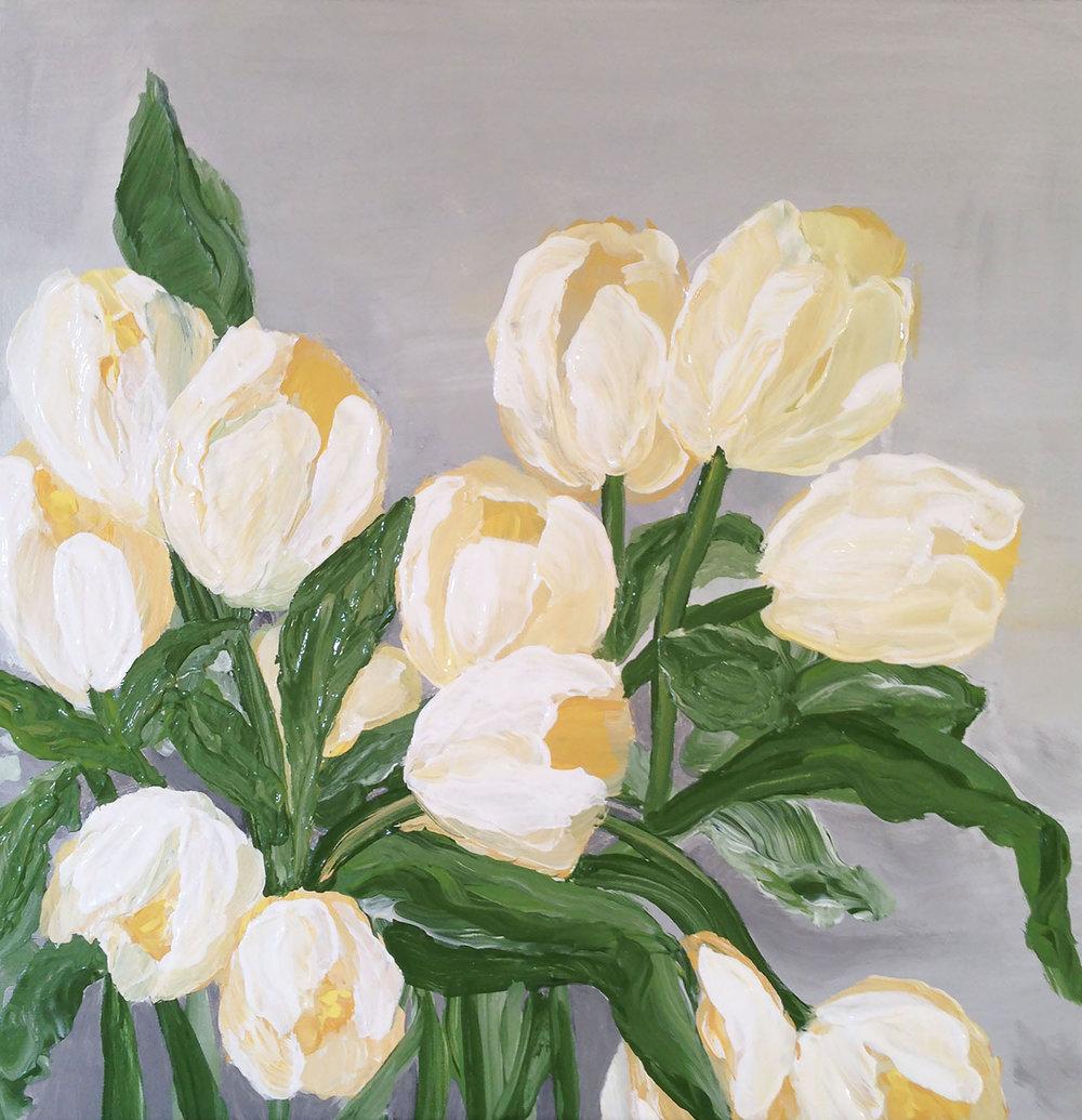 Tiny Tulips (12 x 12)