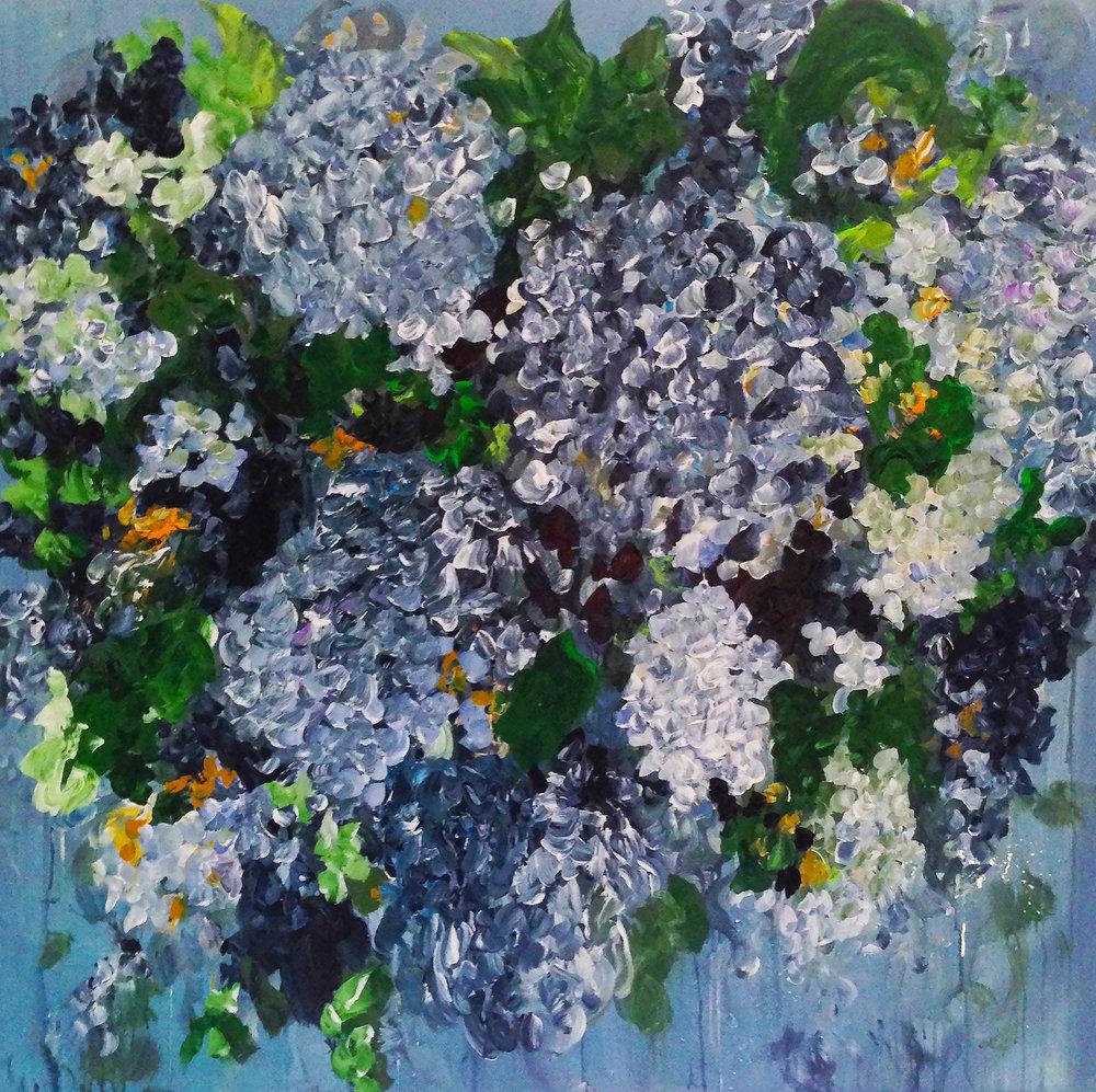Hydrangea Blue (48 x 48)