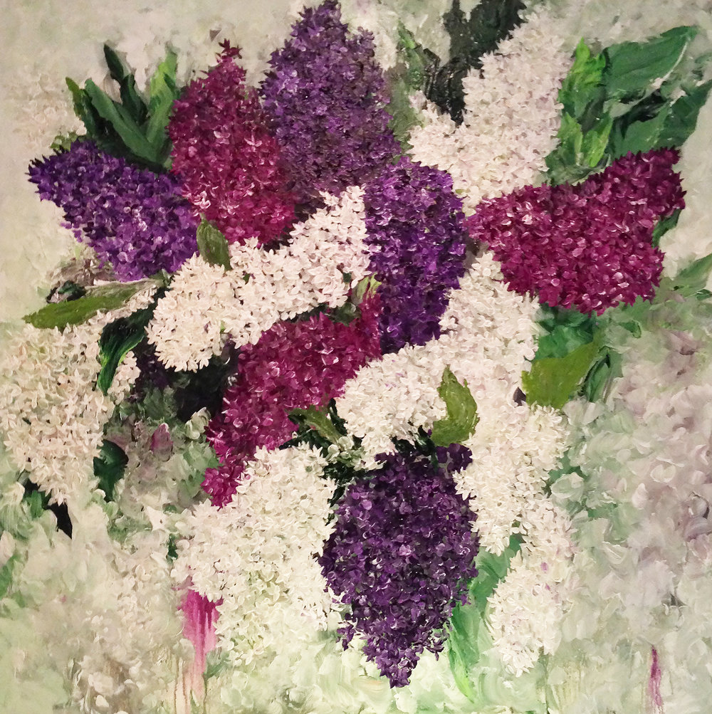 Lilac Memories (48 x 48)