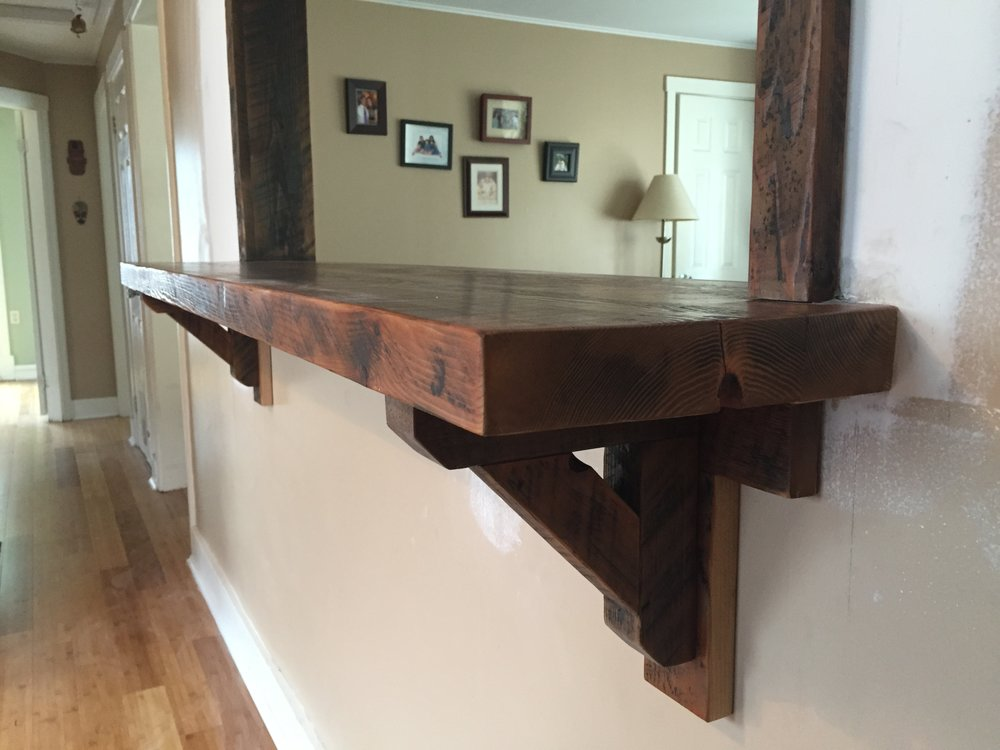 Kitchen Pass Through With Reclaimed Bar And Trim I South Portland, Maine