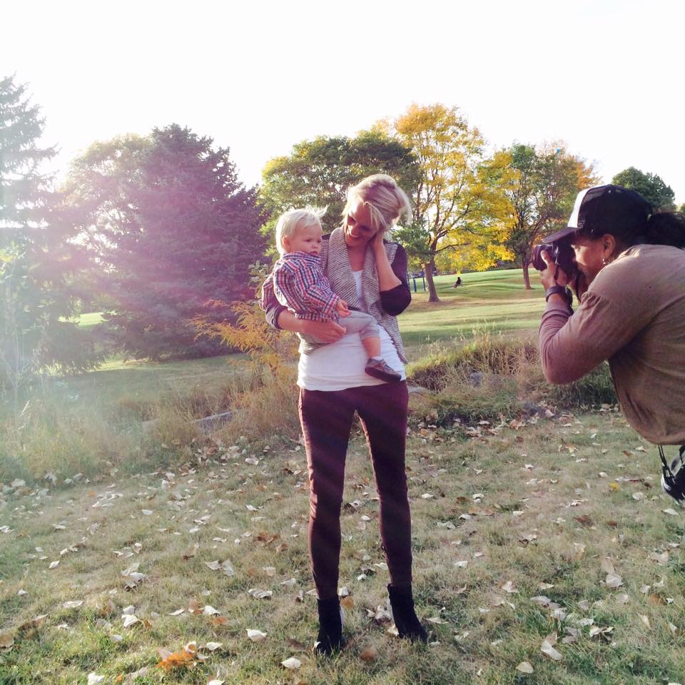 Here's one of my favorite photos snapped by my son, behind the scenes at a family Fall photo shoot.
