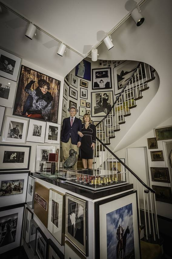 Photo Credit: Collectors Richard and Ellen Sandor in the midst of their 2,600-piece photography collection. Bob Stefko