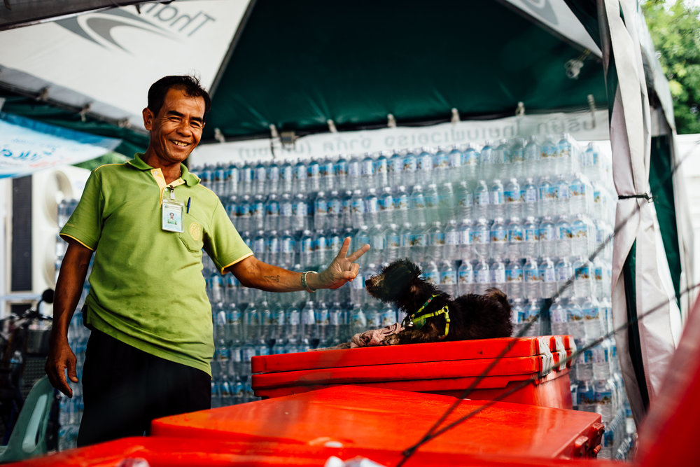 Travel-Photography-Thailand-Smile-Dog-Water-Vendor