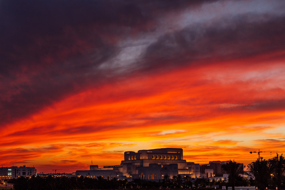 Red-Color-Sunset-OperaHouse-Muscat-Oman-MiddleEast-Durazo-Photography