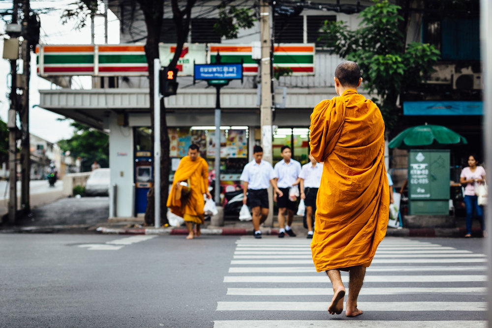 Monks-Orange-Robe-Crosswalk-Walking-Travel-Thailand-Daniel-Durazo-Photography.jpg