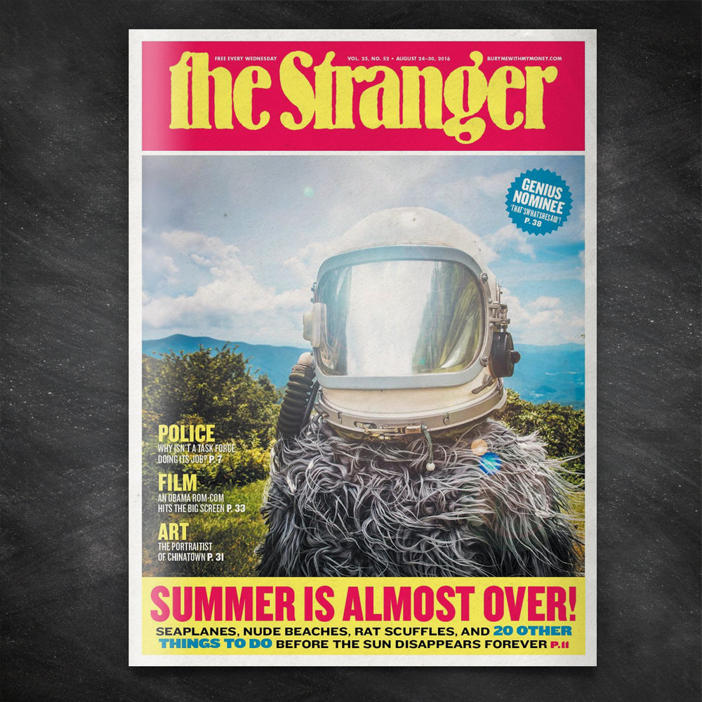 Space Squatch has been sighted in the Pacific Northwest... on the cover of The Stranger!