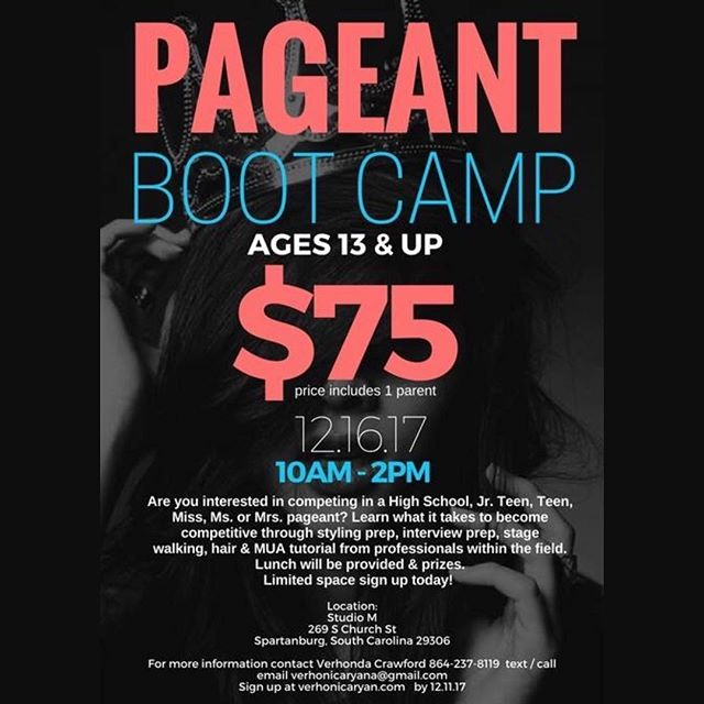 It's the best time of the year.... It's pageant season! Start the holiday season off with an exciting Pageant Boot Camp workshop.Calling all girl who are interested in competing in a High School, Jr. Teen, Teen, Miss, Ms. or Mrs. pageant? Learn what it takes to become competitive through styling prep, interview prep, stage walking, hair & MUA tutorial from professionals within the field. Lunch will be provided and prizes and gifts from our sponsors. For more information email me at verhonicaryan@gmail.com.  Sign up at www.verhonicaryan.com  Join us on Dec 16, 2017 from 10am- 2pm Limited space sign up today!#misssc #pageants #customdresses #pageantseason #pageantsisters #pageantdress #pageantmakeup #pageantqueen #pageantlife