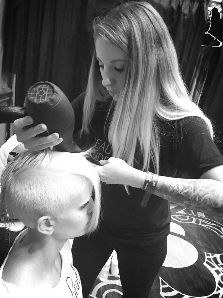 Doing production and hair at the North Amercian Hairstylist Awards (NAHA).   #Beautyunderground