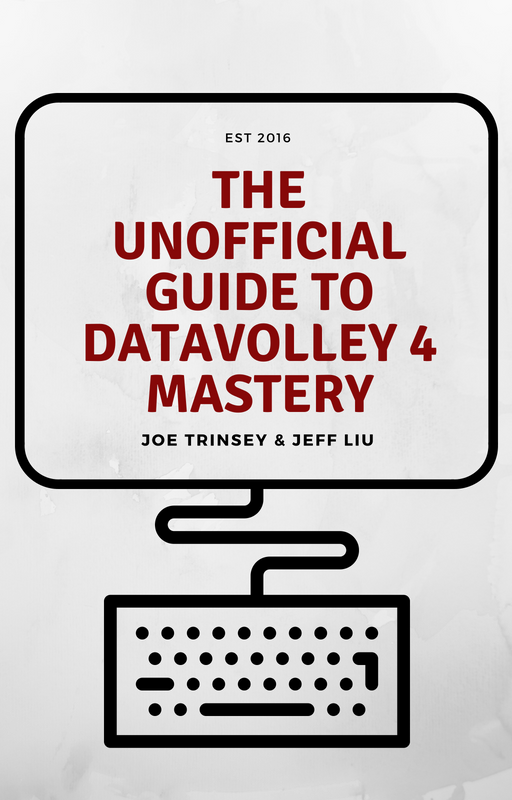 The Unofficial Guide to DataVolley 4 Mastery - Now Available!Co-Authored by Joe Trinsey and Jeff Liu, this all inclusive guide to using DataVolley 4 will guide you on how to use the software, understand and break down the results. From beginning to experienced coders, this guide dives into the depths of Joe and Jeff's brains and has something to offer every volley nerd.