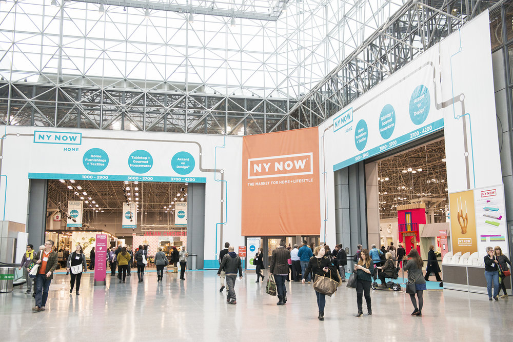 NY NOW、HOMEセクションの入り口。全米だけでなく世界中からバイヤーが訪れる。
