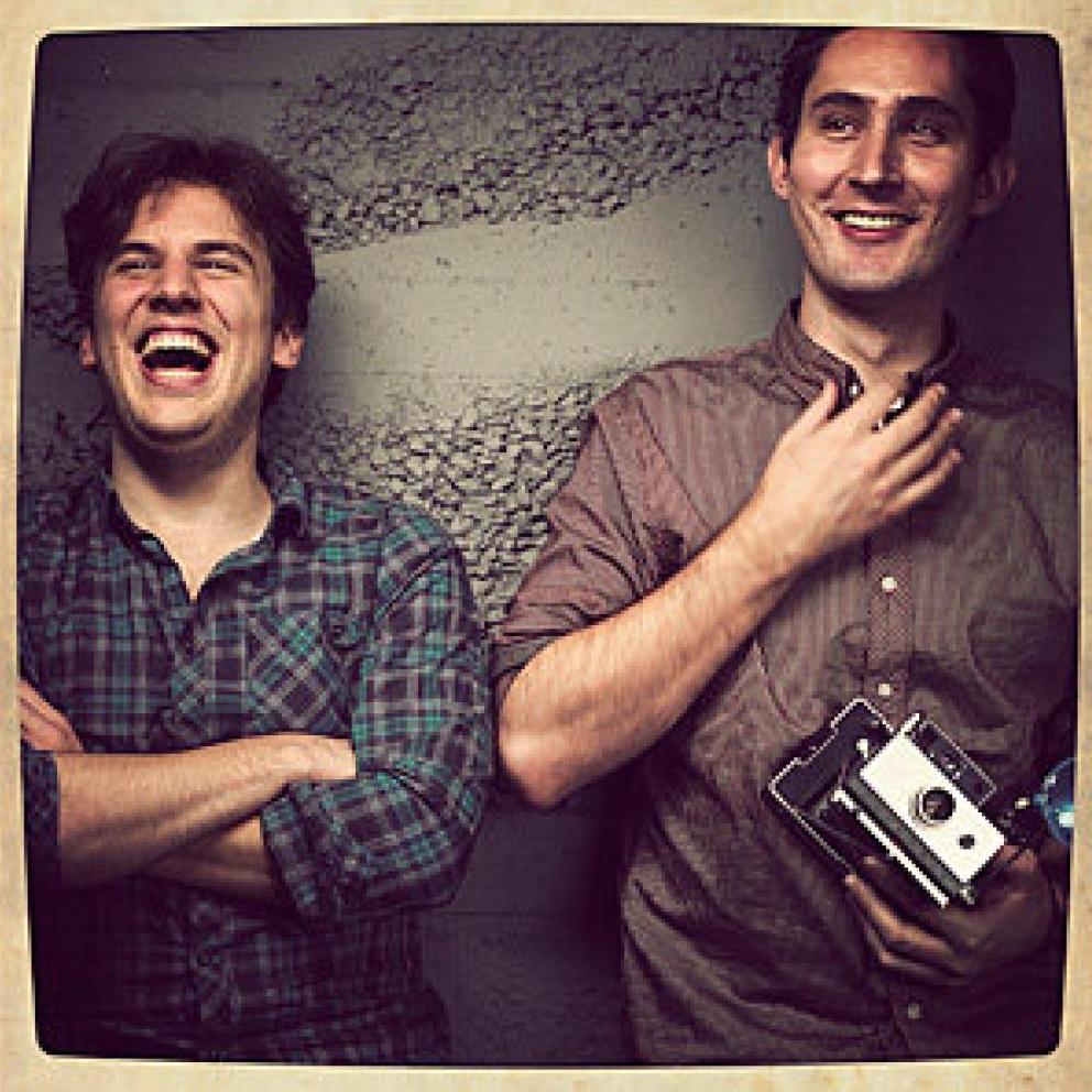 ケビン・シストロム氏(右)、マイク・クリーガー氏(左)
