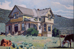 LeConte Stewart  Deserted Home, Kamas, Utah  Private Collection