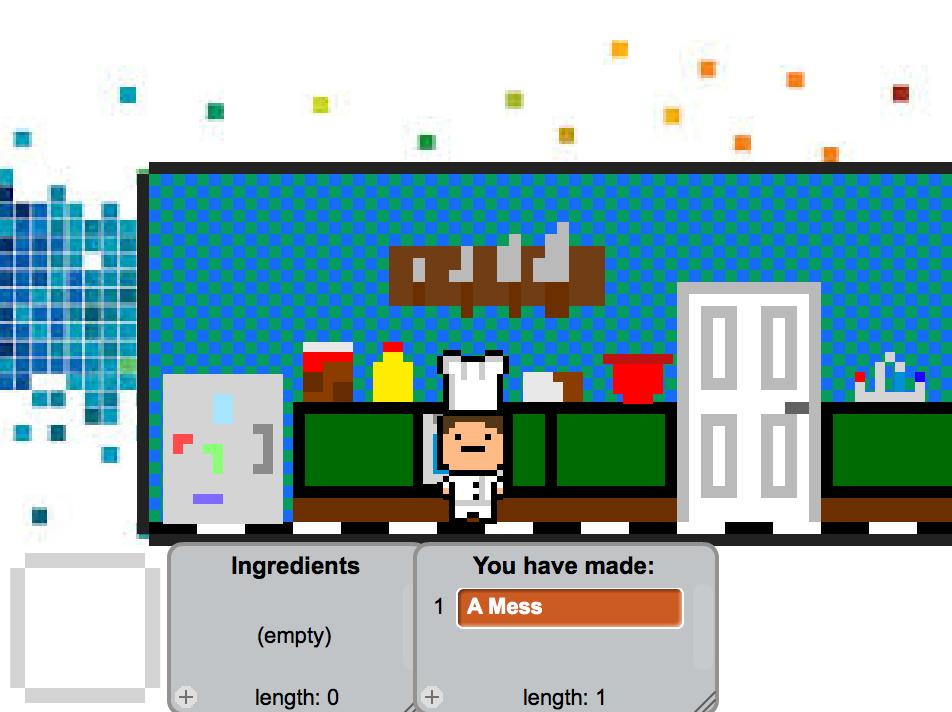 """""""Sugar Chef"""", created in Scratch by Adam age 13"""