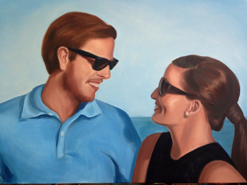 "Ryan and Tess 36"" x 48"", oil on canvas"