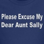 please excuse my dear aunt sally math humor gift