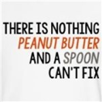 Peanut butter and a spoon cute and funny gifts