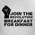 Join the Revolution Breakfast for Dinner t-shirts and gifts