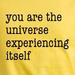 You Are The Universe Experiencing Itself Inspirational t-shirts