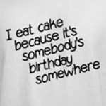Eat Cake For Somebody's Birthday Somewhere