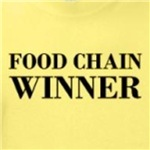 Food Chain Winner funny carnivore shirts and gifts