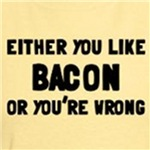 You Like Bacon or You're Wrong Funny t-shirt