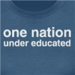 one nation under educated atheism and liberal t-shirt