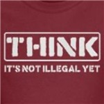 Think it's not illegal yet progressive and radical t-shirt designs