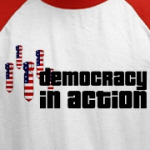 american flag bombs democracy in action t-shirt designs