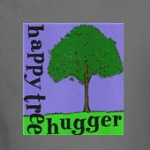 happy tree hugger liberal environmentalist t-shirts and gifts