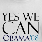 Yes we can obama 2008 political shirts for liberals and progressives