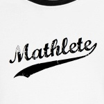 vintage faded mathlete shirts for geeks and nerds