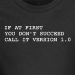 call it version 1.0 funny computer geek and nerd t-shirt